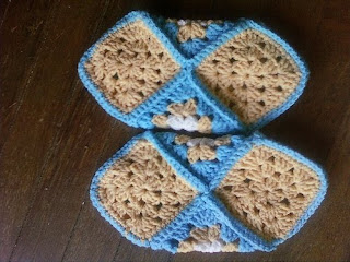 Crochet Slipper Pattern. Granny Square Project.