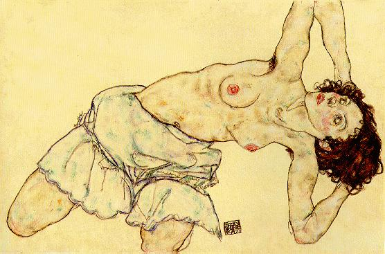 Egon Schiele - Page 3 Egon_Schiele_-_Nude_woman_with_a_skirt