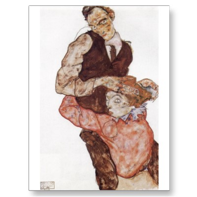 Egon Schiele - Page 3 Egon_schiele_lovers_1914_15_pencil_body_color_postcard-p239638908053467528trdg_400