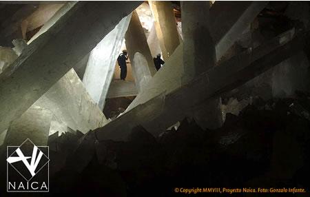 Es la cueva de los cristales