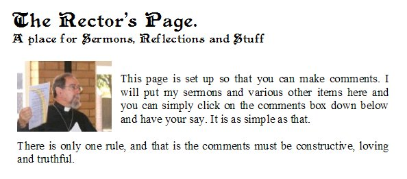 The Rector's Page