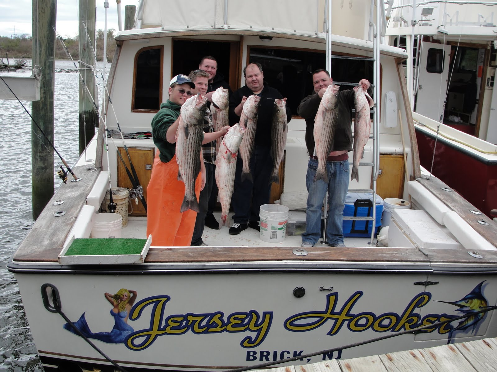 New jersey fishing charters new jersey striper charters for Charter boat fishing nj