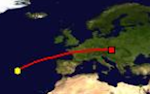 Distance between Azores and Bratislava
