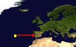 Distance between Azores and Lisbon