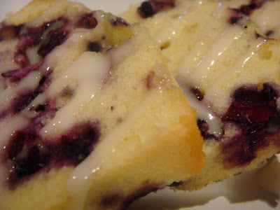 slices of blueberry pound cake