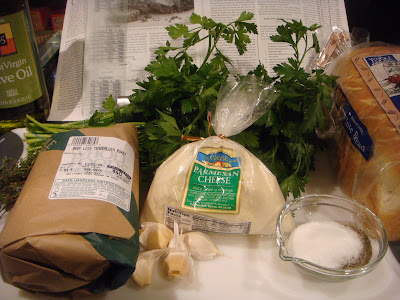 ingredients for herb-crusted beef tenderloin