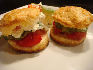 Mini strawberry shortcake sammies