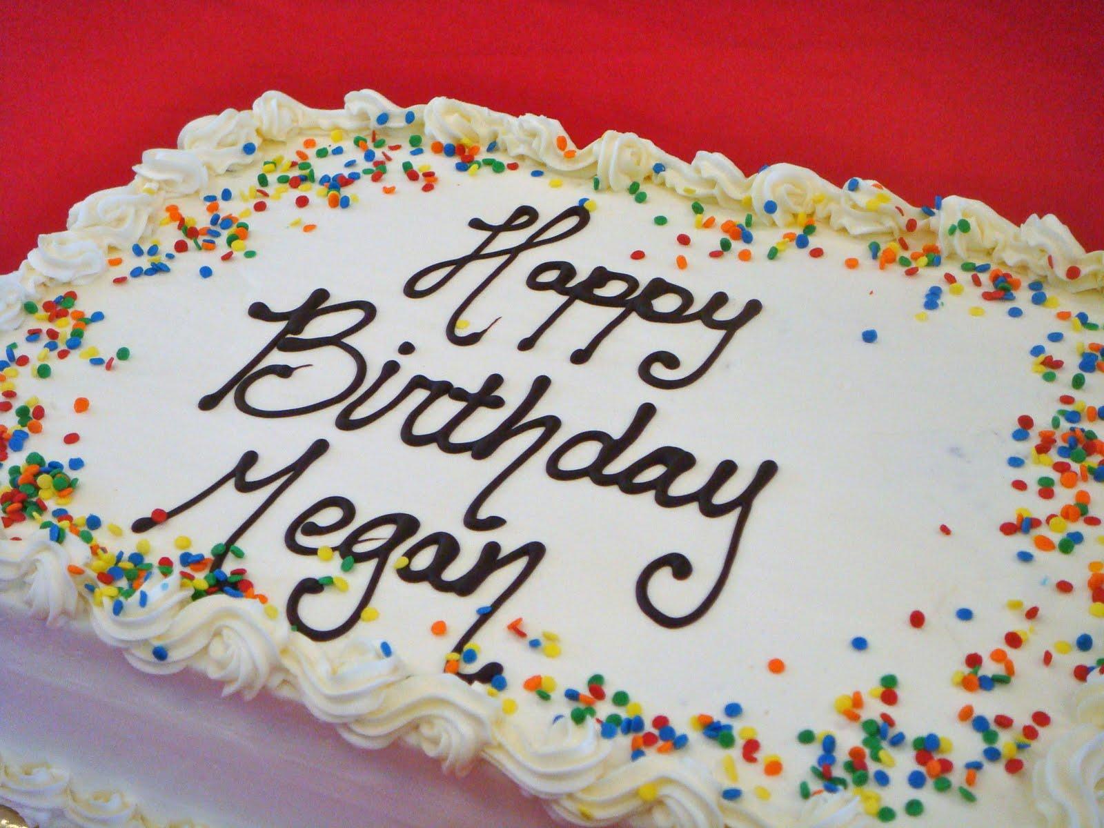 Happy Birthday Megan Cake