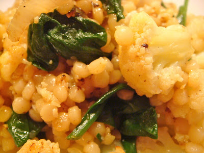 Israeli couscous with cauliflower