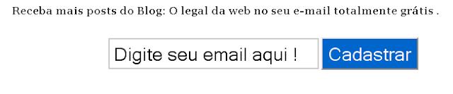 Digite seu email