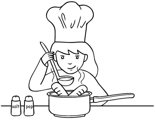 Cocinar para colorear imagui for Cocinar para 9 personas