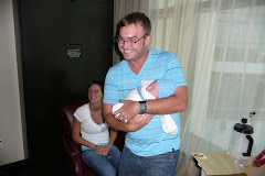 Uncle Chad was the first one to hold him...