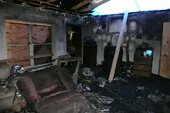 Family Room after the fire...
