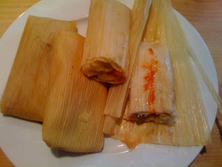 Homemade tamales from La Reina Bekery in Saraga Grocery Store Indianapolis