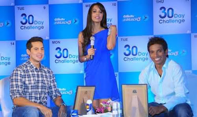 Malaika Arora at Gillete 30 day challenge