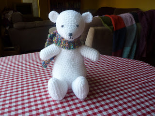Yellow pink and sparkly arthur the polar bear polar bears are my favourite animal heres one i made for fun dt1010fo
