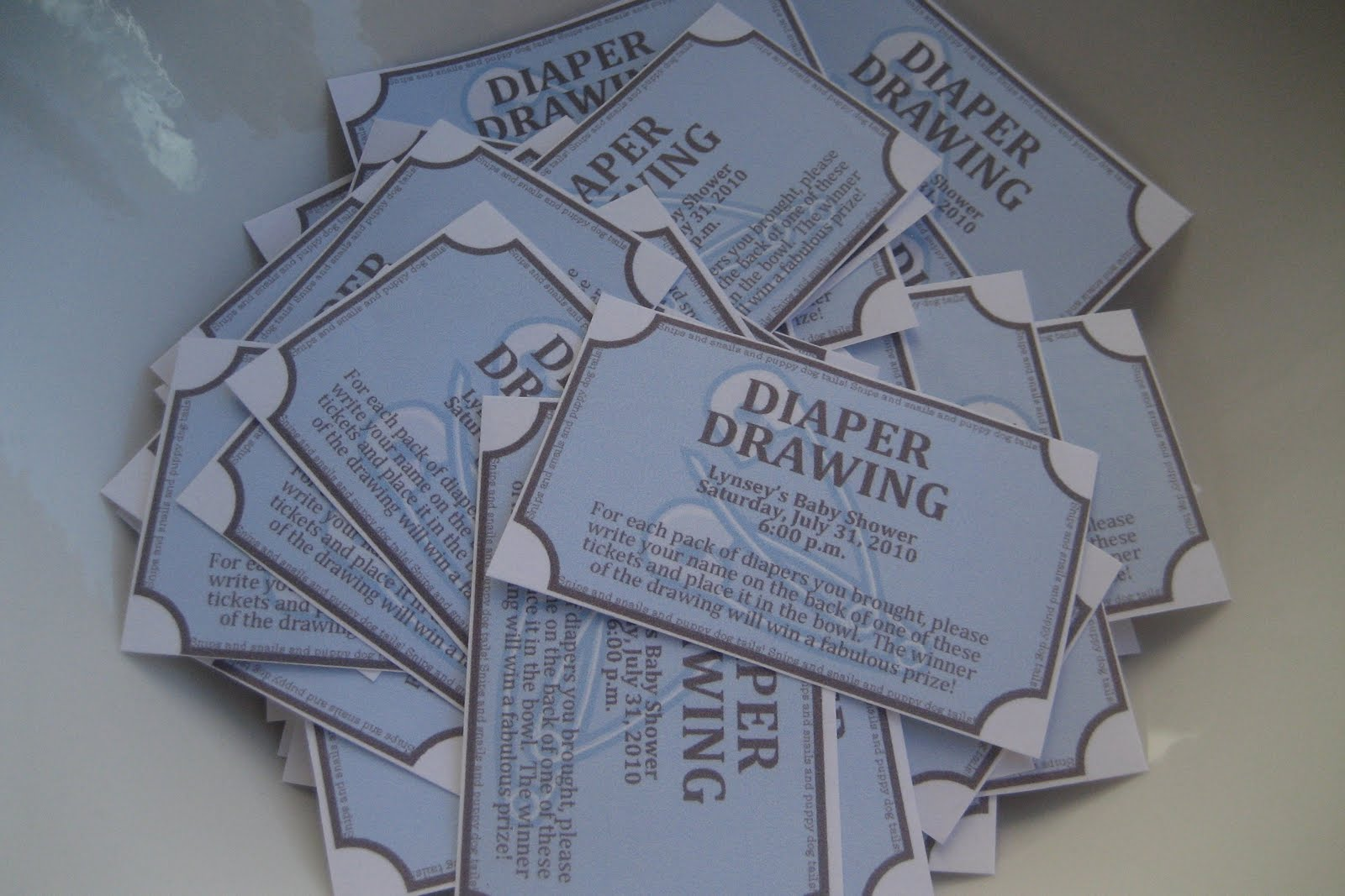 Baby Shower Raffle Ticket Template Diaper drawing tickets.