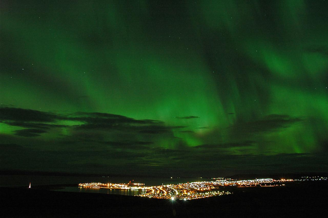 Green Aurora Borealis high resolution