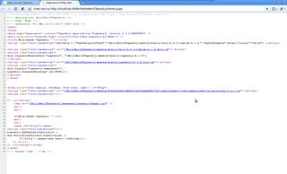 Código fuente html generado