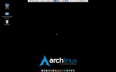 Escritorio de Arch Linux con GNOME