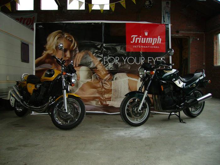 My Trident 750 1994 & Thunderbird Sport 900 1998