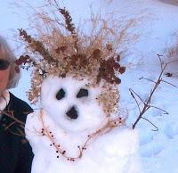 blonde snowman snowlady