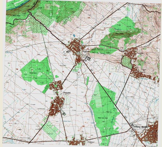 Harta tografica a zonei Rogova