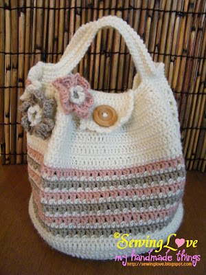 Crochet Pattern For Bucket Bag : Handmade Zakka by Elaine: Crochet Bucket Bag