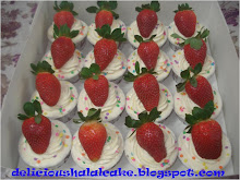 Cup cake hantaran - buttercream + strawberry