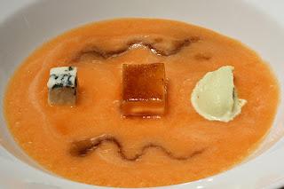sárgadinnye leves sárgadinnyeleves karamell roquefort fagylalt kéksajt fagyi pedro ximénez px sherry