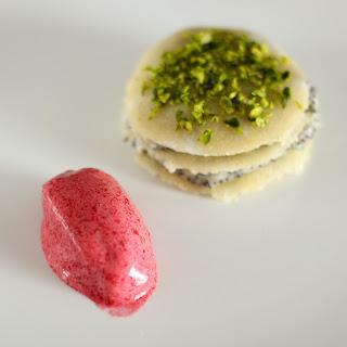 mák fehér csoki csokoládé mousse házi marcipán mandula mille-feuille meggy sorbet cseresznye meggysorbet pisztácia lasagne