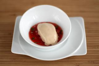 balzsamecet fagylalt fagyi földieper eper consommé thai bazsalikom tejszín tej