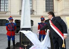 Obelisco en memoria de 4,357 peruanos devela Presidente de la República