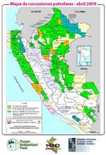 Mapa de concesiones petroleras 2009
