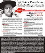 Diciembre 2009: La herida sigue abierta señor Presidente