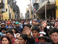 Julio 2010: Afectados por violencia permanecerán en Lima hasta obtener respuesta del gobierno