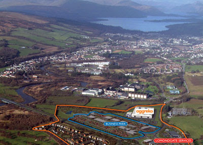 fantastic aerial impression showing Loch Lomond in the background