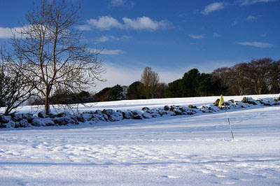 a seasonal view of Hazlehead Golf Course which will be sold to Donald Trump
