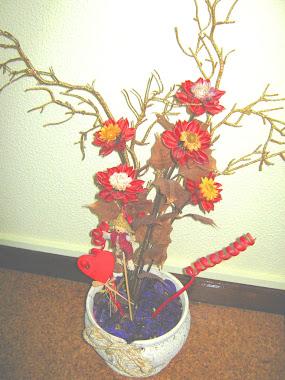 Arranjo de Flores para Dias Festivos como o Natal