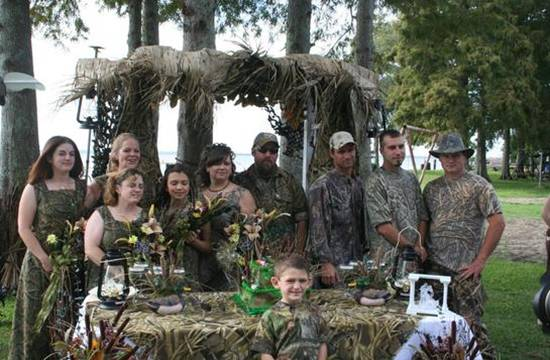 Every bride 39s dreama CAMO WEDDING interestingly only 3 guests could