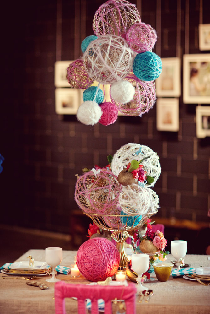 Brooklyn berry designs diy baby mobile for Ball decoration ideas