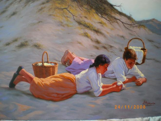 Mujeres en las dunas