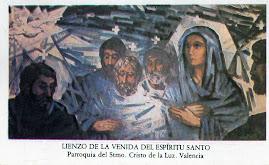 LIENZO DE LA VENIDA DEL ESPÍRITU SANTO