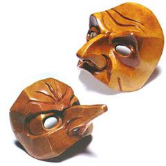 Máscaras de madeira do carnaval de Veneza