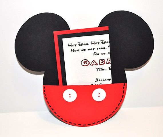 kids theme party 39 s mickey mouse birthday invitation inspired