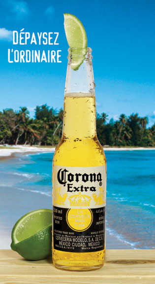 corona and lime