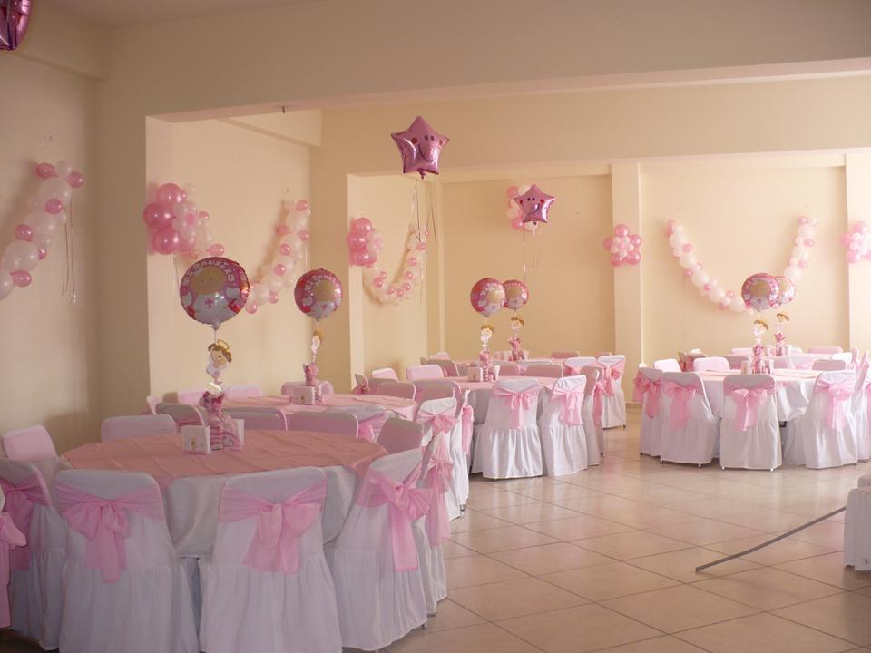 con globos para presentacion y primera comunion decoracion con