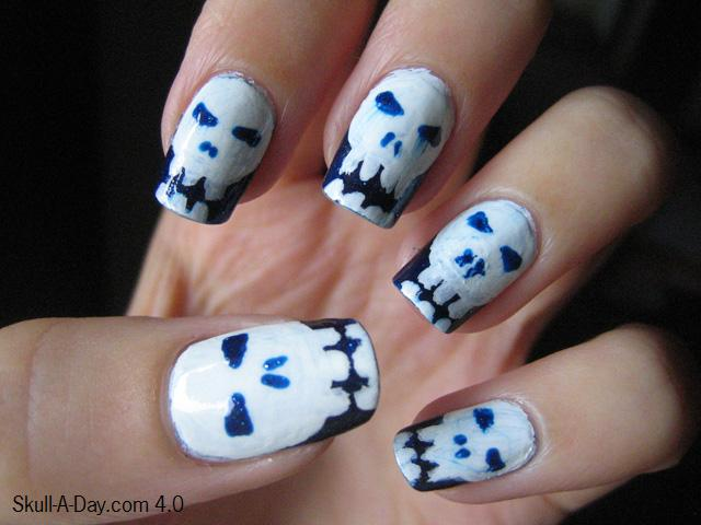 Nail Designs with Skulls