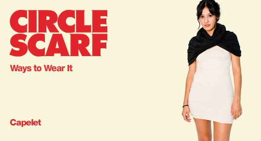 Little Black Dress: How To Wear Circle Scarves