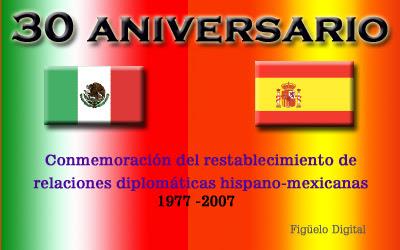 30 aniversario del reestablecimiento de las relaciones diplomáticas entre México y España